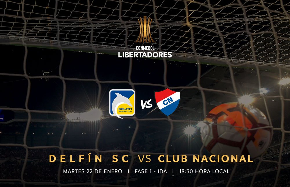 Delfín e Nacional (Paraguai) inauguram a Pré-Libertadores 2019