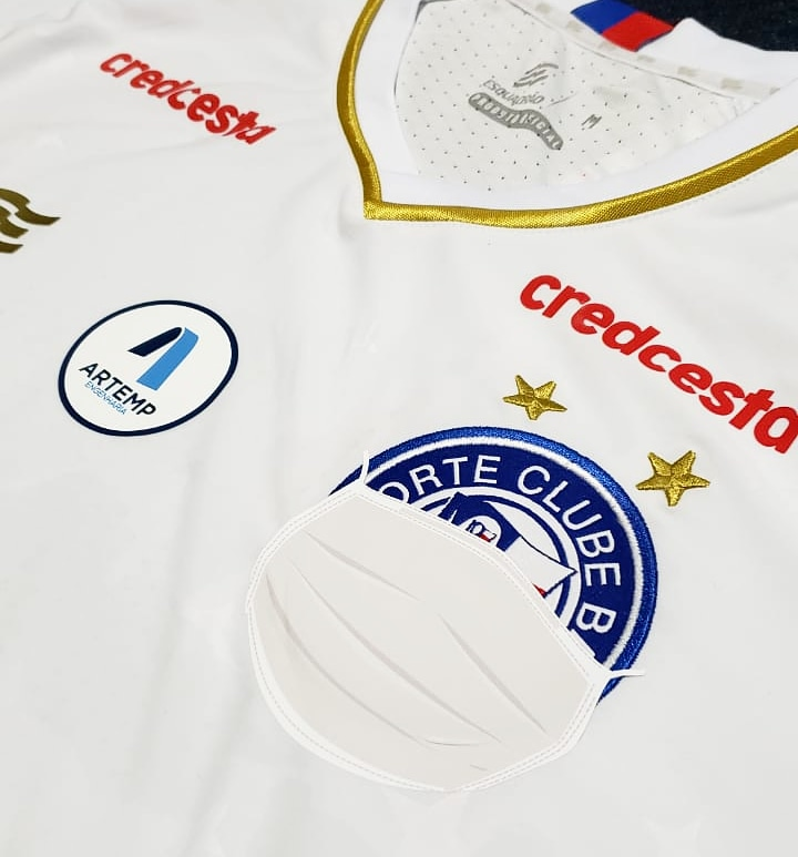 camisa especial Bahia coronavirus Futebol Latino Lance 20-07
