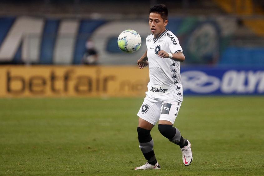 Lecaros com a camisa do Botafogo