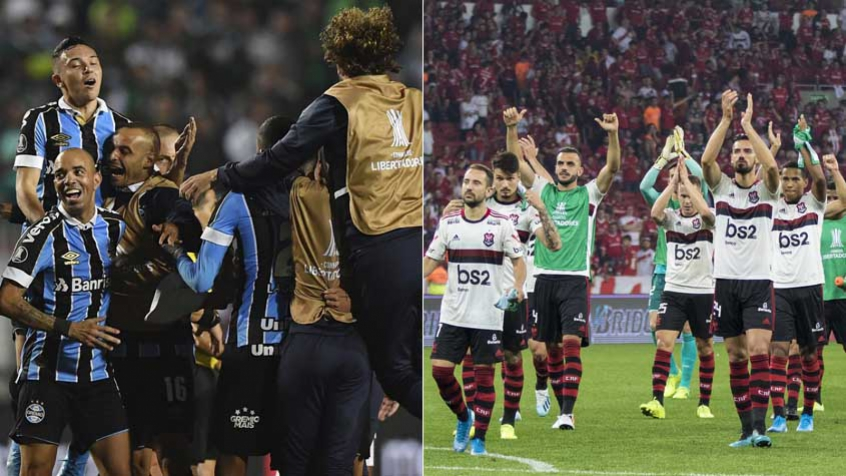 Montagem Grêmio Flamengo Futebol Latino Lance 02-10