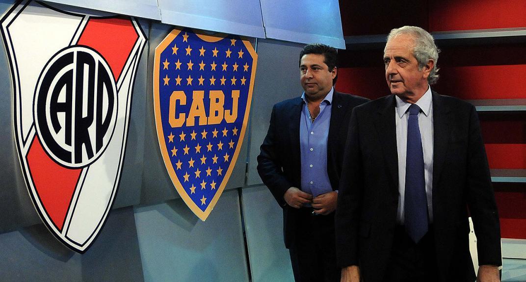 presidentes-de-boca-juniors-e-river-plate-chegam-a-espanha-para-reuniao-do-tas-Futebol-Latino-16-07